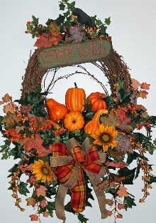 Deluxe Pumpkin Patch Wreath