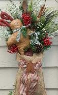 Christmas Burlap Hanger