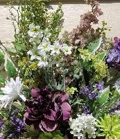 Green and Purple Door/Wall Bouquet