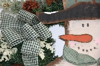Country Snowman Wreath