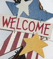 Patriotic Welcome Star Wreath