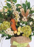Bunny Burlap Sack Door Hanger