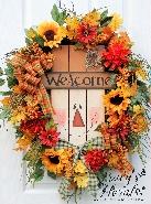 Wood Scarecrow Wreath