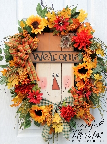 Wood Scarecrow Wreath