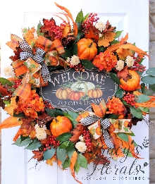 Autumn Welcome To Our Home Wreath