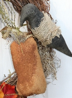 Primitive Crow Wreath