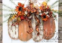 XL Pumpkin Door Hanger