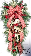Winter Teardrop Wreath