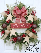 'Believe' Wreath