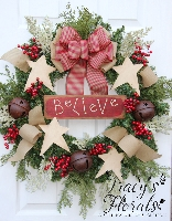 'Believe' Wreath