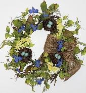 Blue Nest Wreath