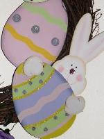 Bunny & Eggs Easter Wreath