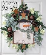 Country Snowman Wreath