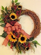 Country Sunflower Wreath