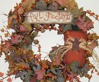 Fall Greetings Wreath