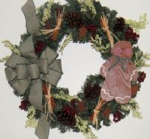 Gingerbread Man Wreath