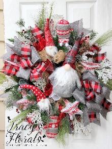 Christmas Gnome Wreath