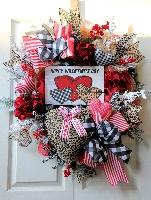 Happy Valentines Day Wreath