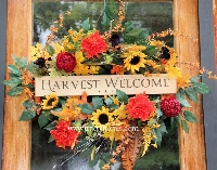 Harvest Welcome Oval Wreath