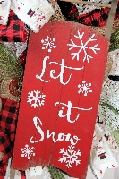 Snowman Sled Wreath