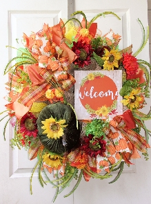 Deluxe Fall Welcome Wreath