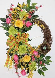 Lime Sorbet Spring Wreath