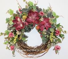 Mauve Magnolia Wreath