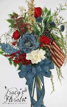 Flag Door Flower Bouquet