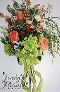 Peach Door/Wall Bouquet