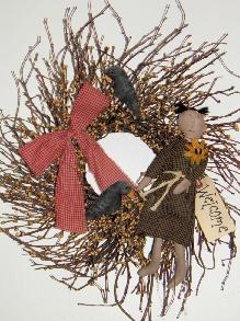 Primitive Girl Wreath