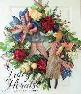 Primitive Uncle Sam Wreath