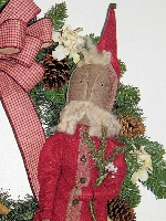 Primitive Santa Wreath