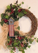 Americana Birdhouse Wreath