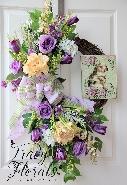 Lavender Spring Bunny Wreath