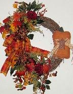 Primitive Pumpkin Wreath