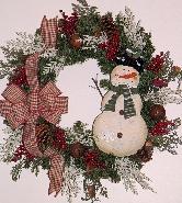 Snow Friends Wreath