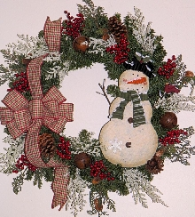 Snow Friends Wreath