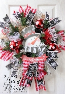 Snowman Welcome Wreath