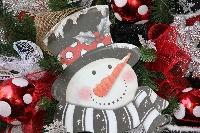 Snowman Welcome Wreath