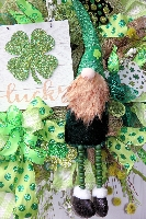 St. Patricks Day Gnome Wreath