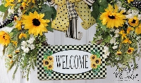 Sunflower Welcome Wreath