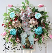 French Country Spring Wreath