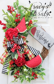 Watermelon Welcome Wreath