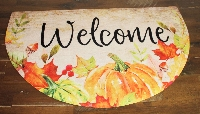 Pumpkin Welcome Mat