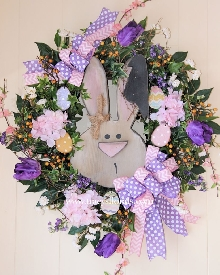 Bunny Face Wreath